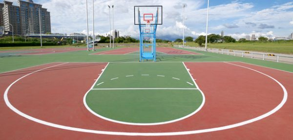 thi công sân bóng rổ ngoài trời