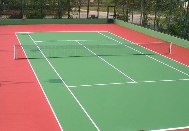thi công xây dựng bề mặt sân tennis