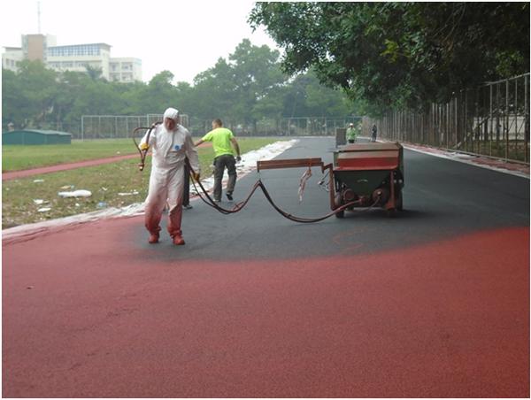 Quy trình thi công đường chạy điền kinh với hạt cao su SBR