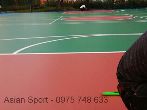 Thi công sân bóng rổ tại trường TH School