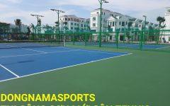 Sơn mới bề mặt sân tennis